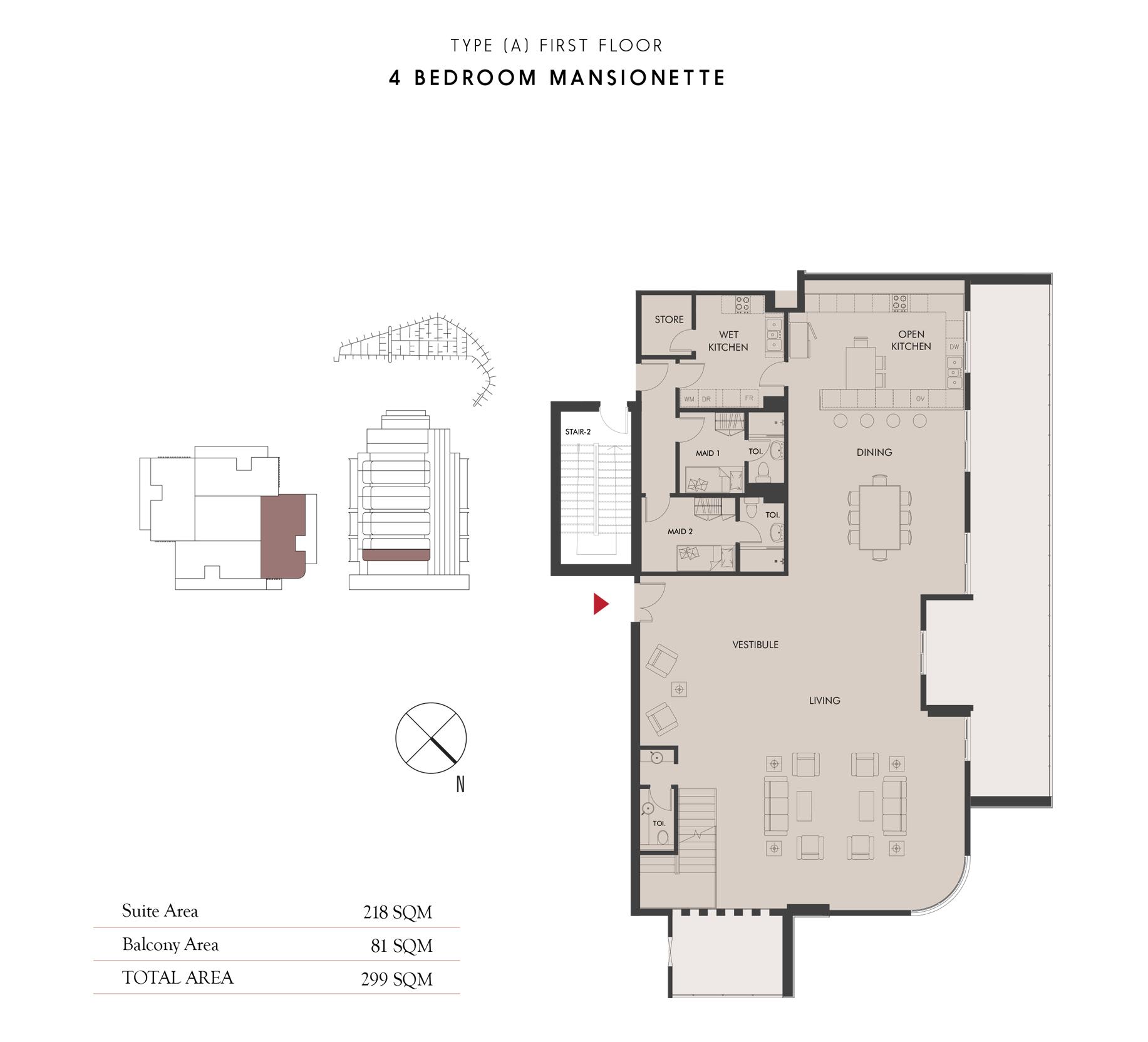 4 Bedroom Maisonette - Ground Floor