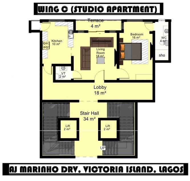 Wing C (Studio Apartment)
