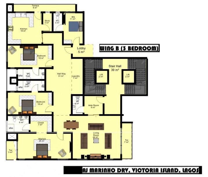 Wing B (3 Bedroom)