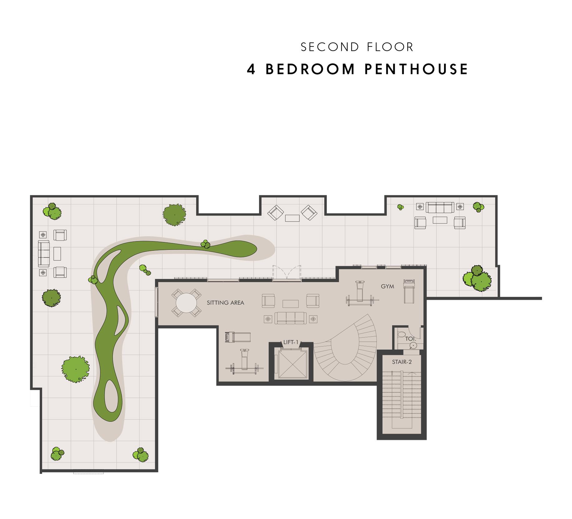 Penthouse - Second Floor